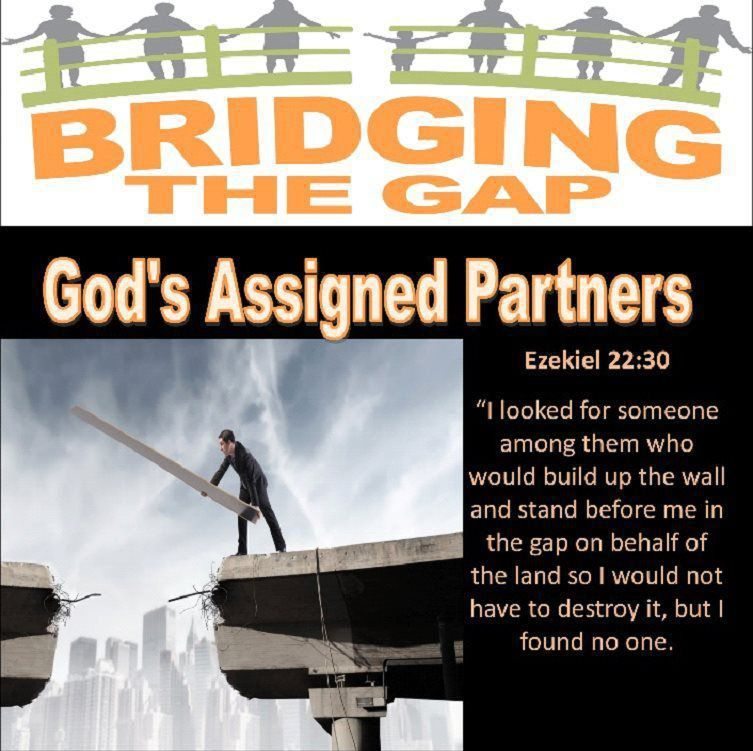 Flyer for Bridging the Gap with Bible verse